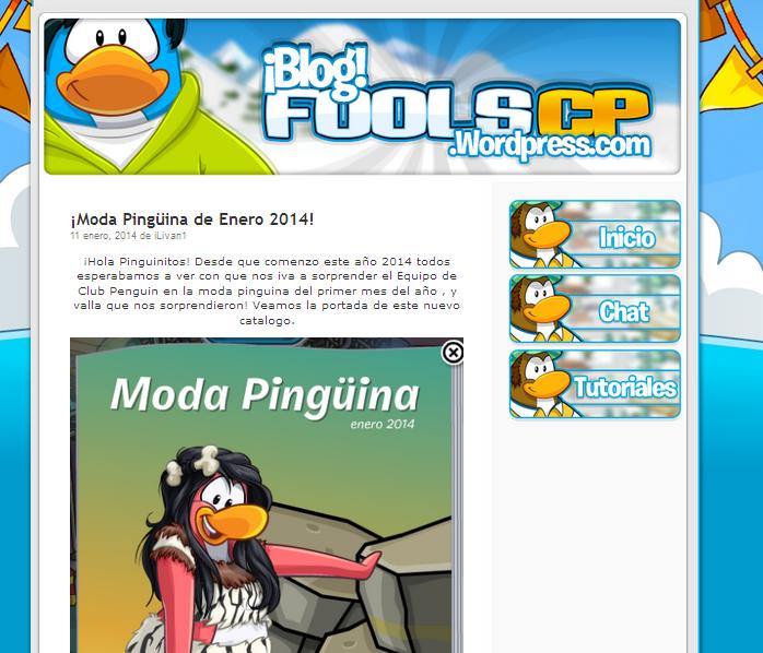 Recomendación : Temas WordPress Para Blog\'s de Club Penguin | Diseño ...